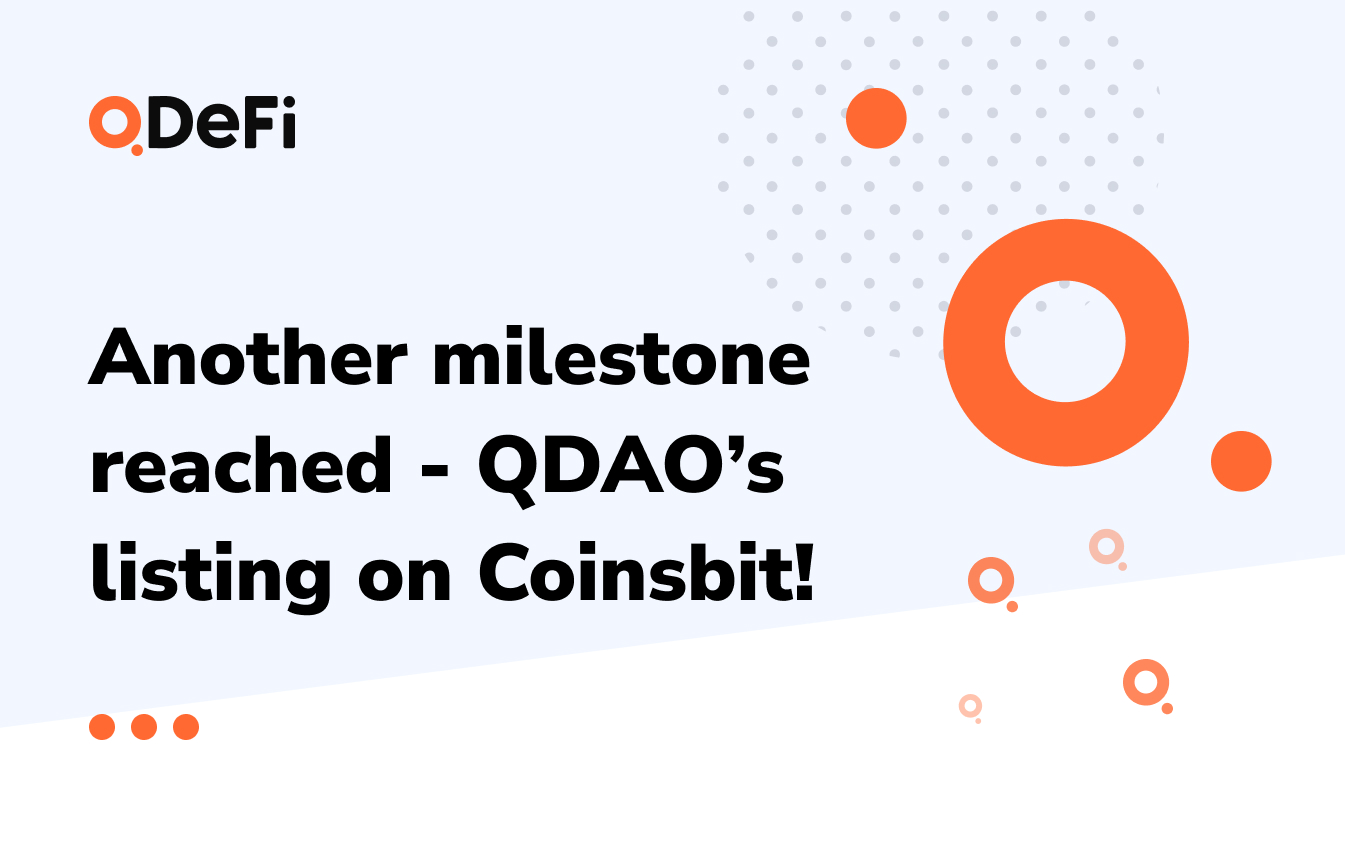 QDAO's listing on Coinsbit